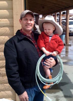 Proud Uncle Mark with his nephew Landon (Ron's son).