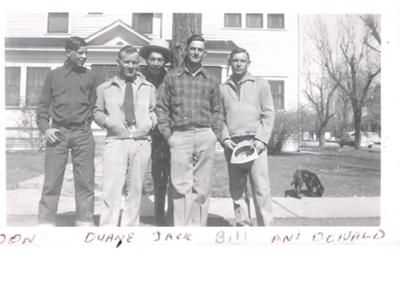 With friends: Don Morse, Duane Brouse, Jack Kruckenberg, Bill Morse, Don Carns