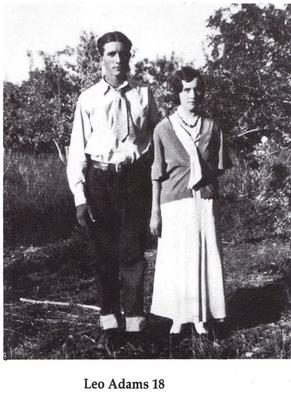 Leo Adams and his young wife